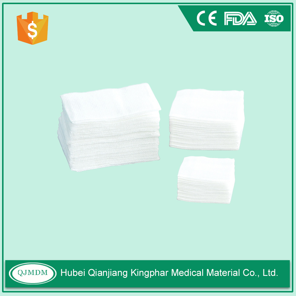 100% Cotton gauze Pad Sponges for Medical Use