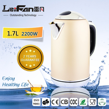 Pastel Cordless Electric Kettle With Water Gauge
