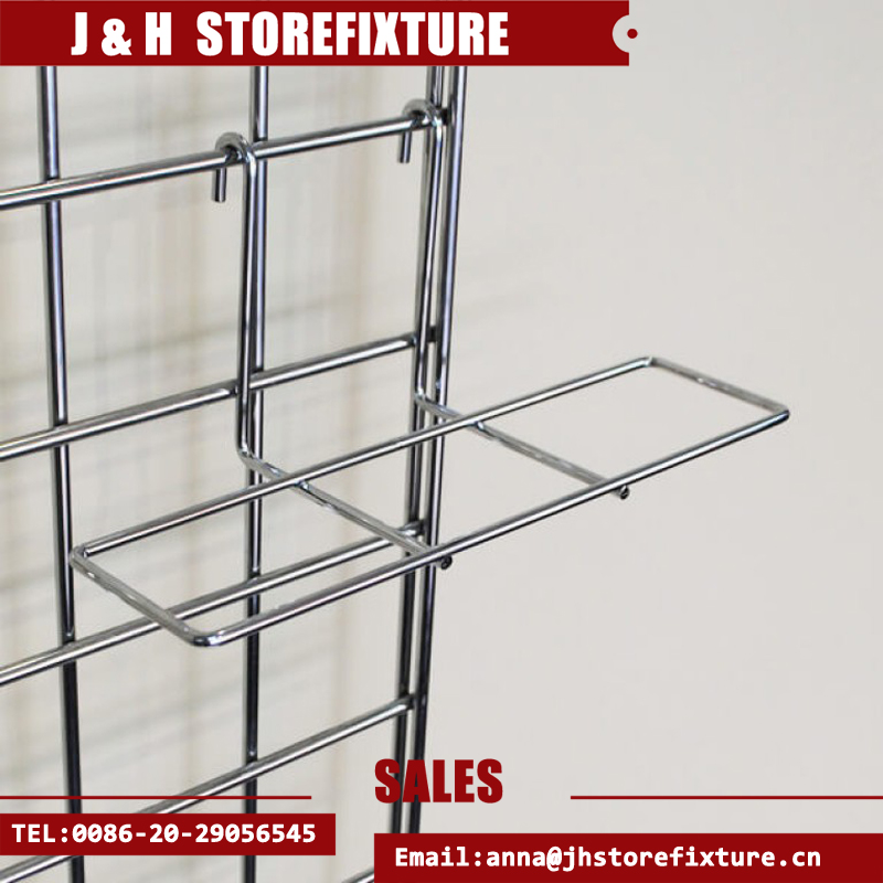 Simple design retail store iron wire layer display gridwall shoe shelf