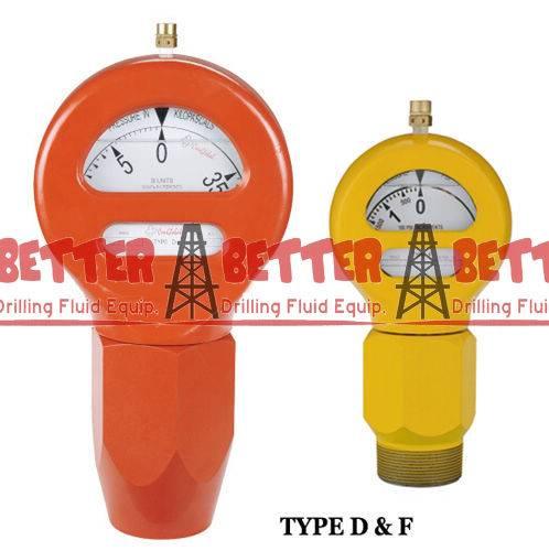 OTECO TYPE D and F Mud Pressure Gauge