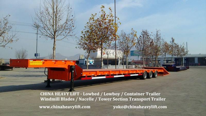 CHINA HEAVY LIFT - Three Line Six Axle Lowbed Trailer