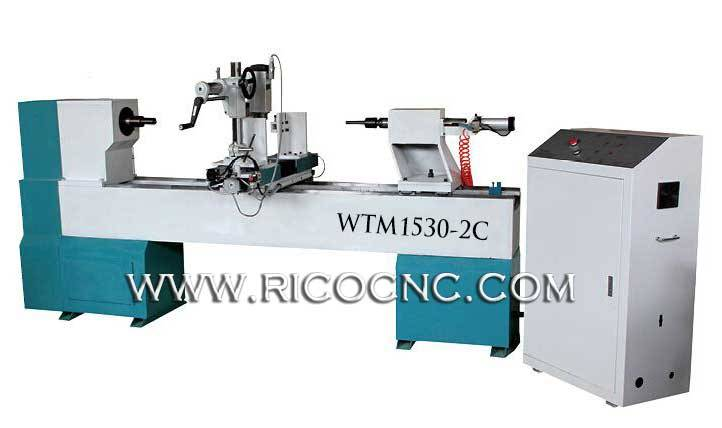 3 Axis CNC Wood Lathe Machine Wood Turning Tool WTM1530-2C