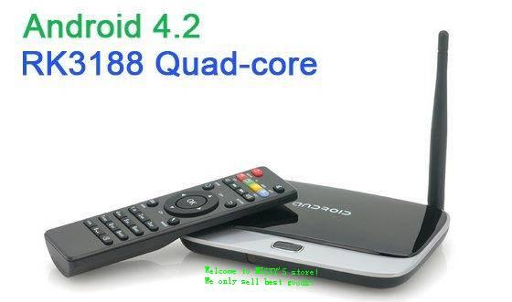Android TV Box RK3188 Quad-core Android 4.4 HDMI/ 2G/ 8G/ RJ45/ WIFI CS918