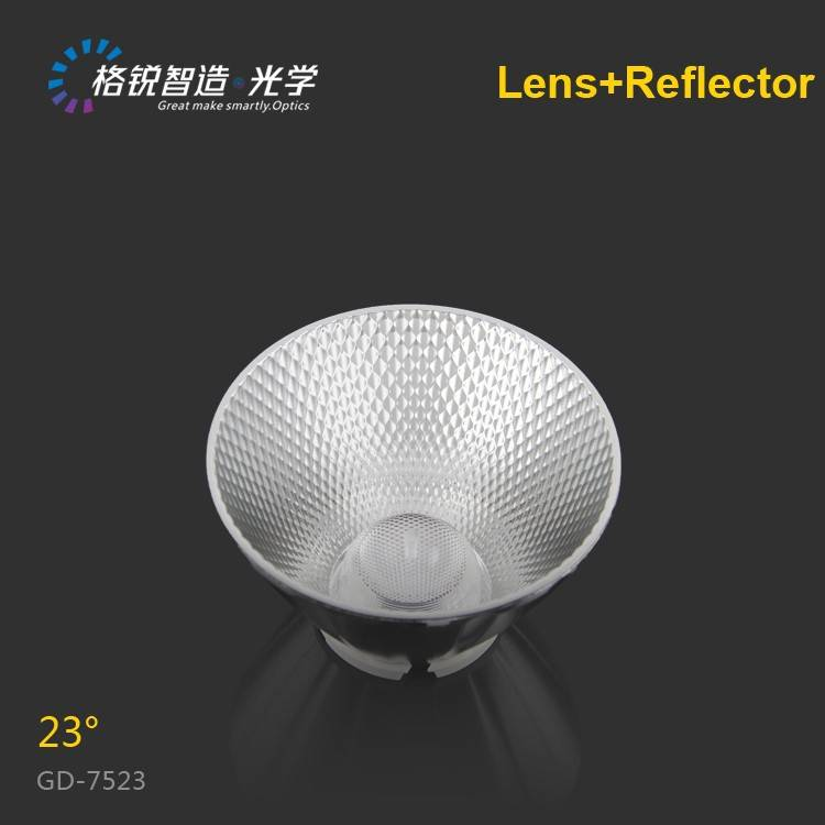 High efficiency led lens COB reflector 75mm