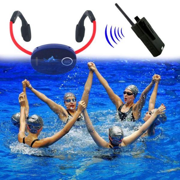 Swimmer coaching radio swimming bone conduction headphone