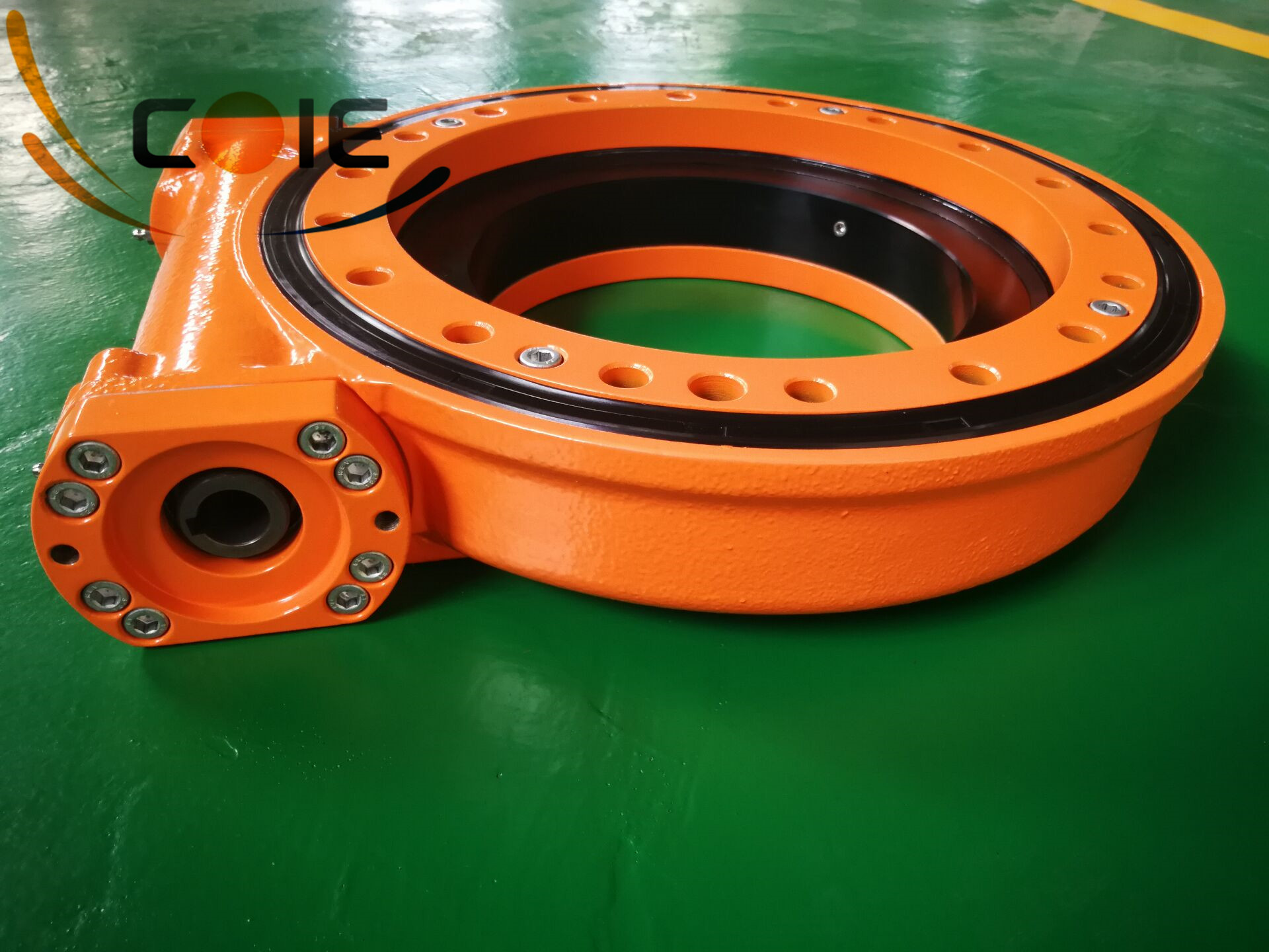 SC14 slewing drive worm gear slewing bearing for driling rig,aerial working platform and man lift