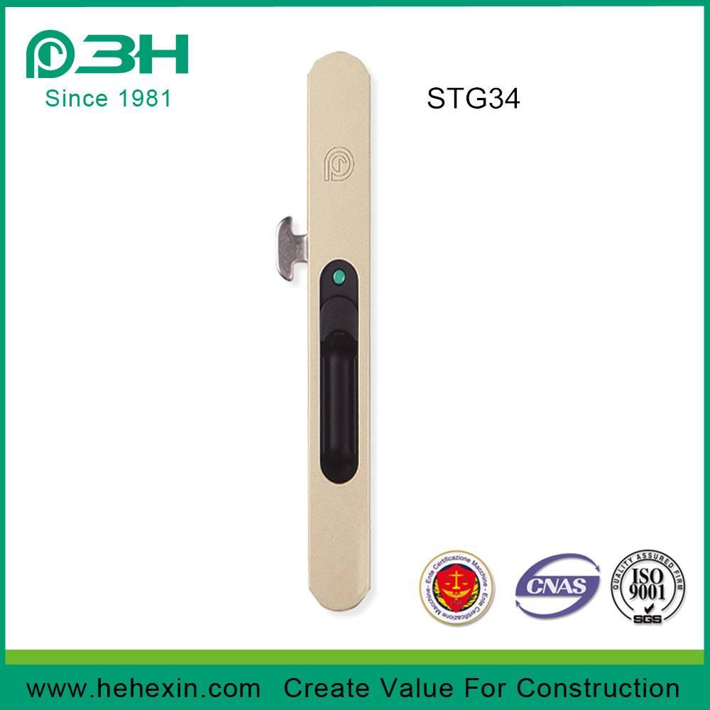 STG34, Embedded Aluminium Window Sliding Latch Lock / Sliding Windows Lock without screw, window scr