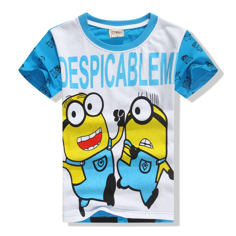 factory direct salling kids cotton short t shirt boys the minions catoon