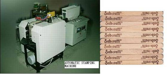 ice cream spoon branding machine, brander machine, logo stamping machine