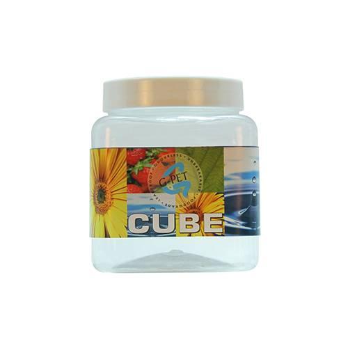 Cube Jar Plastic Cap 750ml