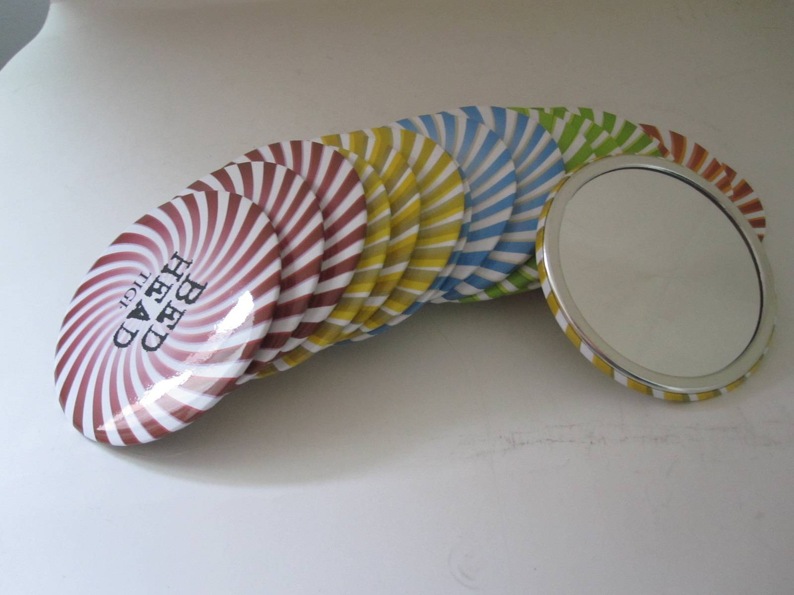 Cheap single  pocket mirror  for promotional