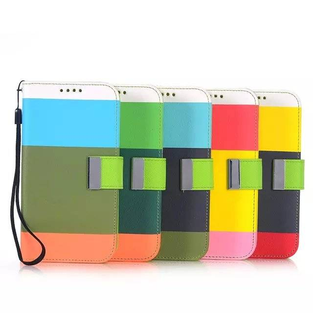 Colorful Leather Cover For Samsung Galaxy S6 Protective Case With Wallet Stand Case