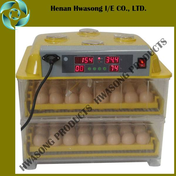 Transparent Fully Automatic Controlling Holding 96 Eggs Incubator for Hot Sale