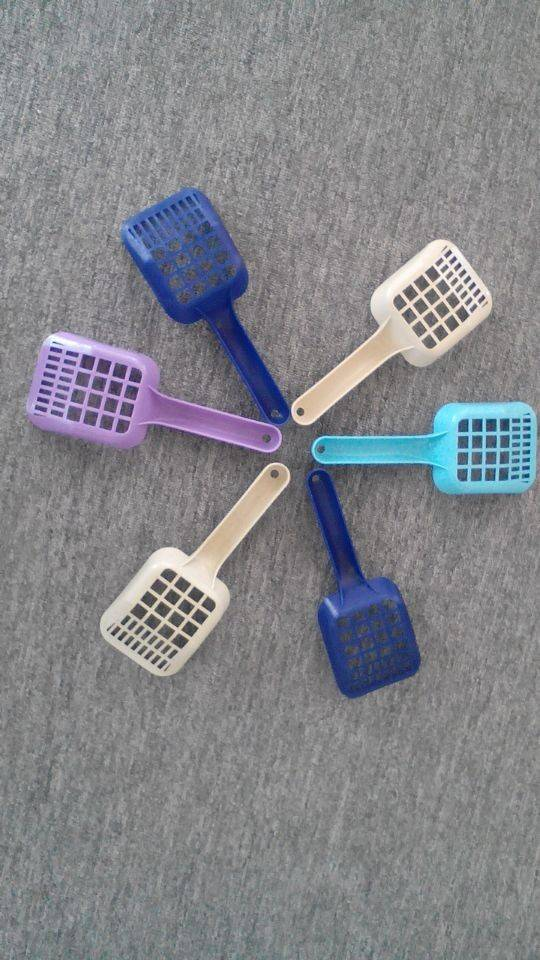 Pet cleaning product /small check cat plastic litter scoop