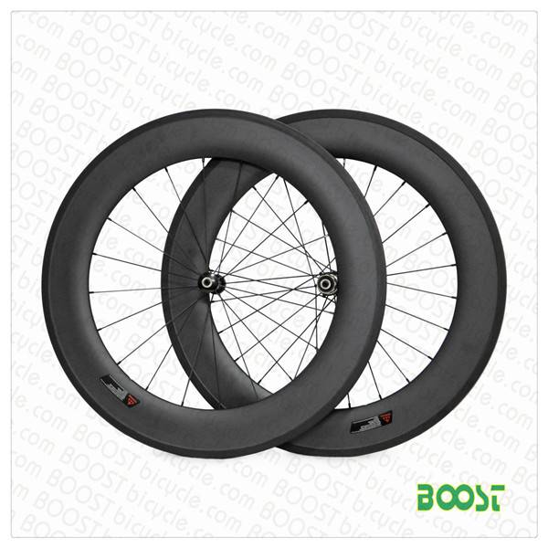 U shape 23mm width 88mm Carbon road bike clincher Tubuless compatible wheelset