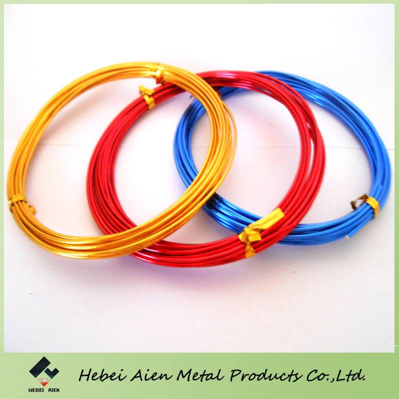 colored aluminum wire jewelry