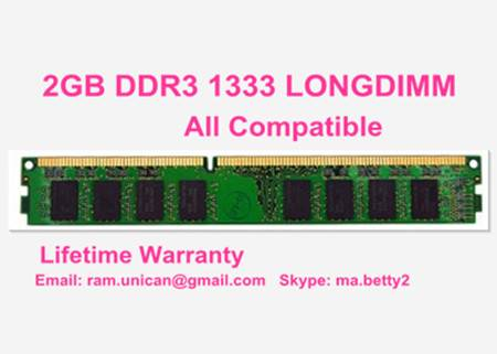 factory cheap 2GB DDR3 1333MHz PC3-10600 Work with All Motherboards
