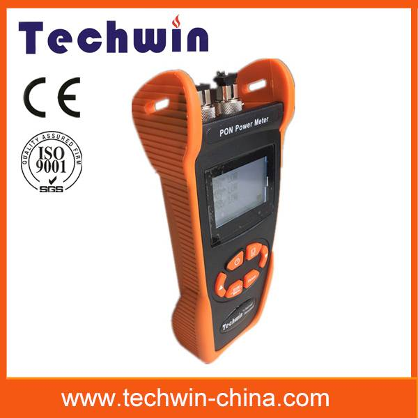 Techwin fiber power meter used in Burst mode measurement of 1310 upstream TW3212E