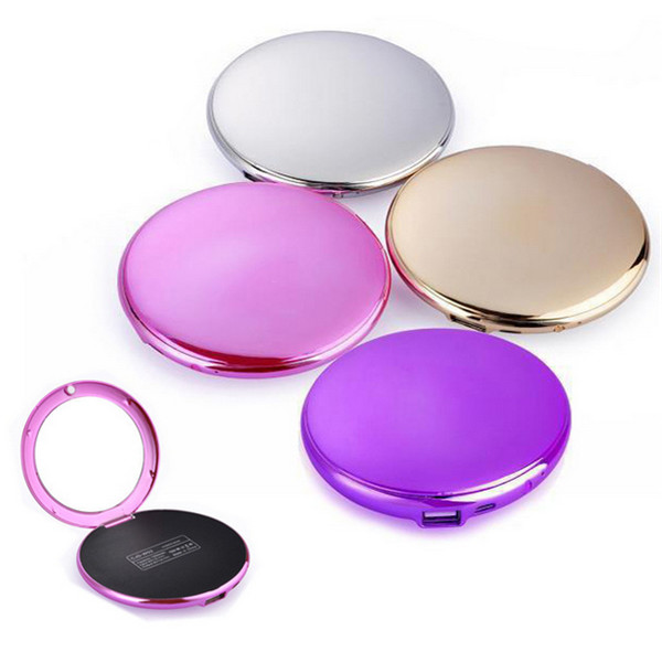 Ladies loving Portable Mini Small Mirror 7000mAh Power Bank for Mobile Phone