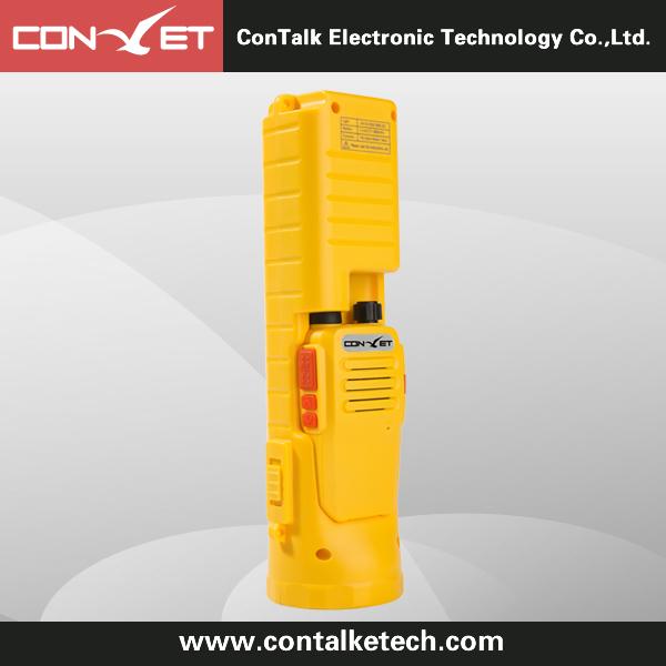 Contalketech Ctet-892 5W UHF or VHF analog two way radio with emergency lighting