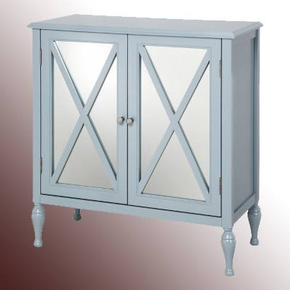 Mirrored Accent Cabinet For Decoration And Storage