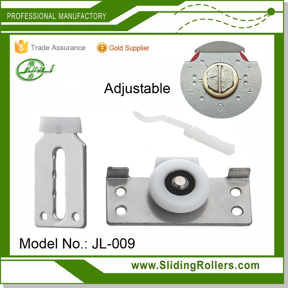 Adjustable cabinet door roller