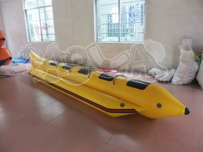 5 Person Inflatable Yellow Banana Boat