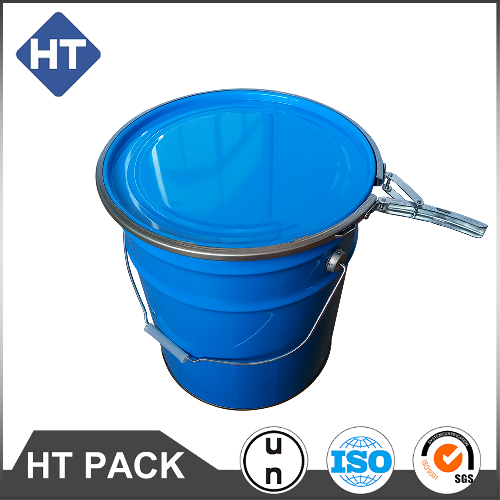 20L tapered metal chemical paint pail with lock ring lid ink pail