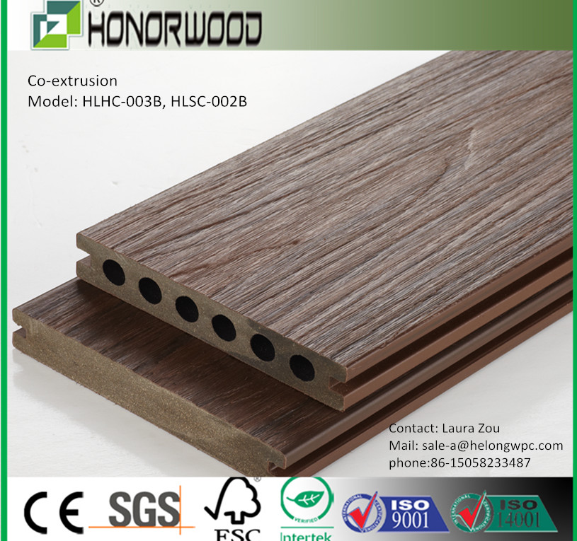 HONORWOOD popular second generation WPC decking/Co-extrusion decking/Composite decking