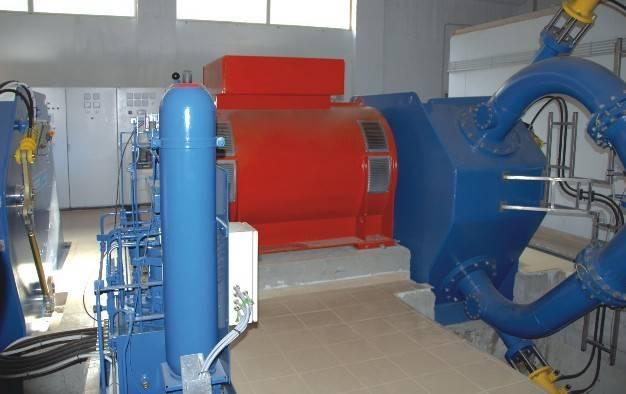 hydro-turbine generator set for hydroelctric plant pelton jet flow type