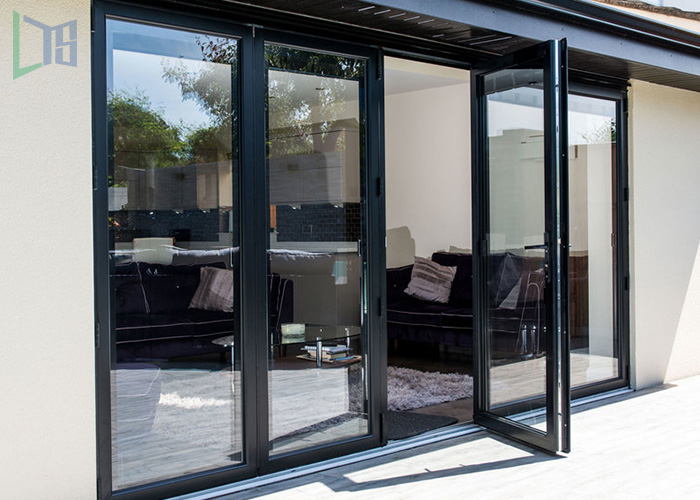Guangzhou supplier aluminum bi folding door with Chinese top brand hardware