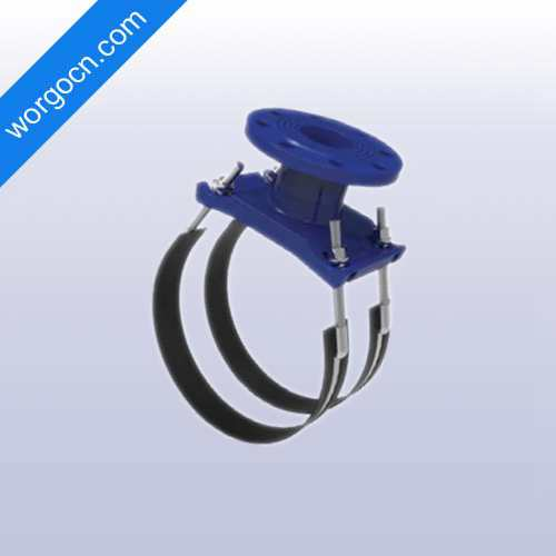 Ductile Iron Universal Saddle with Flange Outlet