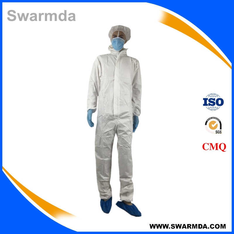 Waterproof Chemical Resistant Safety Protective Clothing Microporous Type 5&6 Disposable Coverall
