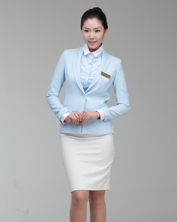 Formal Uniform Suits Set for Women Blouse Jacket Skirt Brooch
