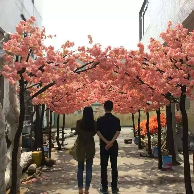 best price wholesale shengjie artificial wedding cherry blossom tree big fiberglass outdoor artifici