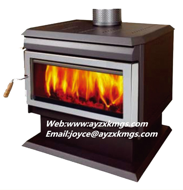 12kw free standing Steel Plate Wood Burning Stove with CE approved.