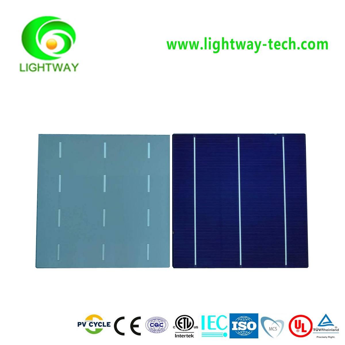 Taiwan Brands 156mm*156mm Poly  3BB 17.6-18.0% eff.A Grade solar cells