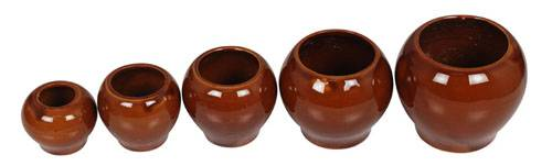 Traditional Chinese Ceramic Cupping Set 5 Cups Cupping Kit