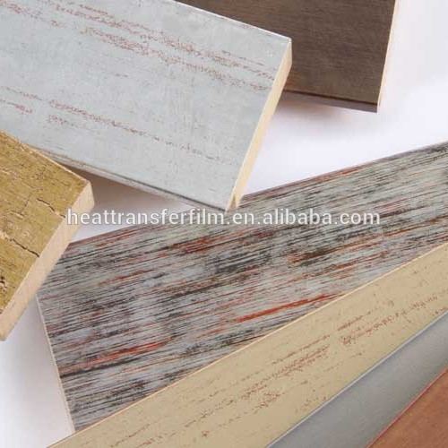 The Most Popular Shabby Style Wood Pattern Hot Stamping Foil For PS Photoframe in 2018