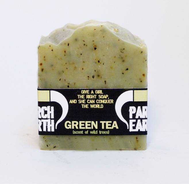 Scent of Wild Trees Green Tea Natural Soap With Grapeseed Oil and Pine Needle Essential Oil