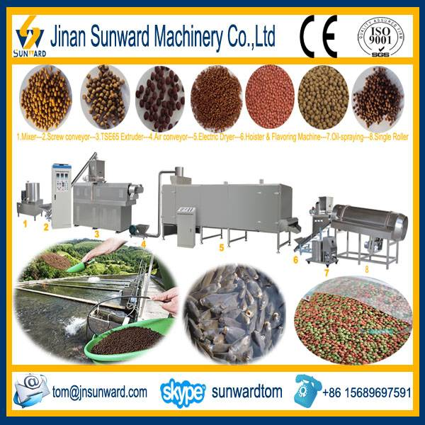 Twin Screws Floating Fish Feed Extruder Machinery