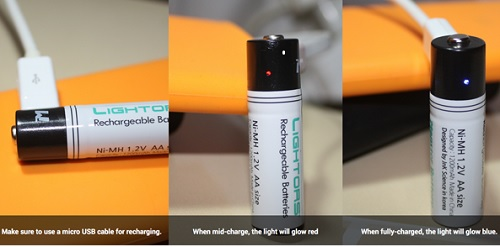 Ni-MH AAA Battery Rechargeable with Micro USB cable Non Toxic Eco Friendly
