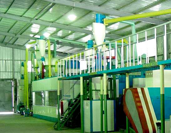 Tire Crusher in tire recycling production line
