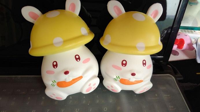 cute and slow rising 12cm mushroom bunny squishy