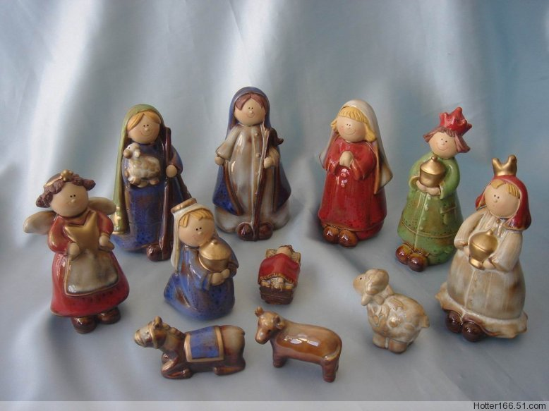 Ceramic Children's Nativity sets,Christmas giftwares,Christian crafts,Souvenirs,Novelty