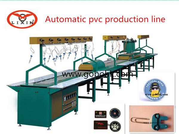 Soft PVC rubber keychain making machine