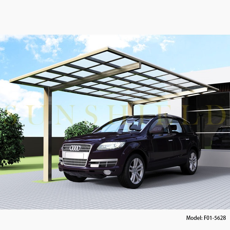 2010 New Metal Aluminum Carport Shelter with Gutter and Polycarbonate Panel