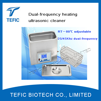 10L Degassing Ultrasonic Cleaner Dual Frequency Control, 5L Stainless Steel Ultrasonic Cleaning Tank