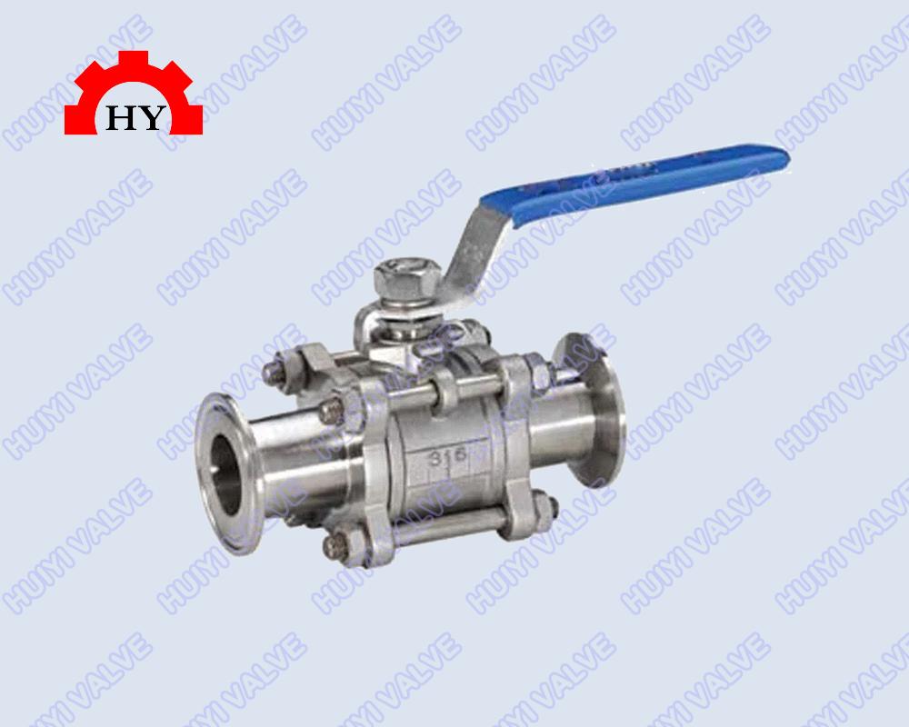 3-pc quick assemble ball valve with high platform