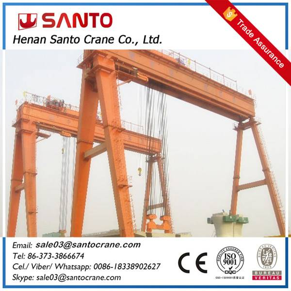 5t to 32t box type and  truss type electric hoist single girder gantry cranes